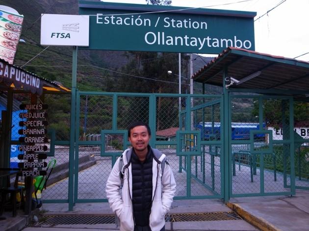 大清早起來,乘坐由Ollyatanytambo到Machu Pichu的火車,爭取多一點暢遊Machu Pichu的時間