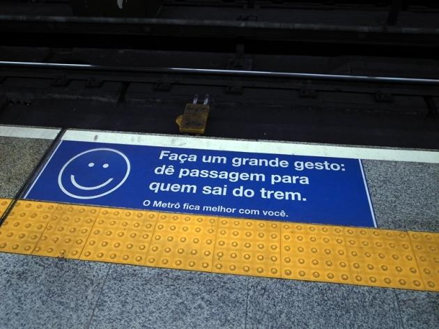 聖保羅和里約熱內盧都有地下鐵,十分完善,是我們在市區遊覽的主要交通工具。