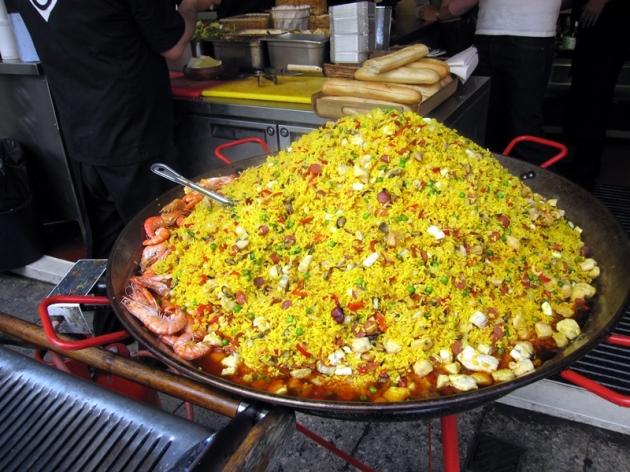 西班牙炒飯,再次看到這些照片,讓我也肚餓了