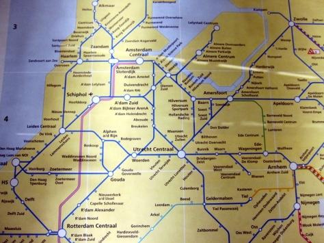 歐洲的火車網絡很方便,不過今次只到Amsterdam和附近的Keukenhof Garden