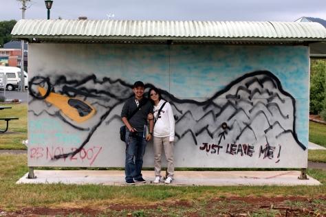 對華人來說,一定要去找Eason Chan來這裡畫的一幅壁畫。我們一問旅客中心的人,他們就知道我們要找這一幅。看來很多人也來過