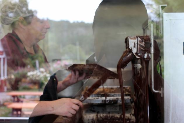 可以看到他們製朱古力的過程,當然最重要的是有朱古力試食