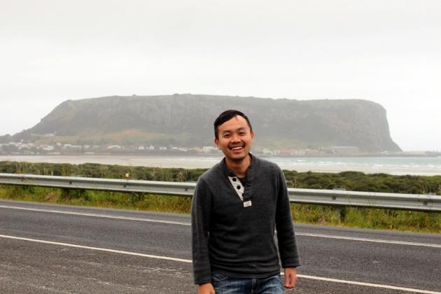再駕了一個多小時,就到達了Stanley, the Nut。是一塊海水的大岩石,被喻為海上的Uluru