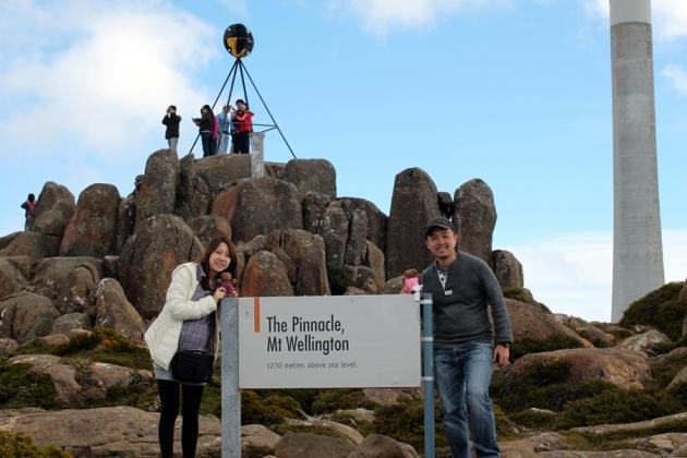 走到差不多,我們就駕車上山了,大約三十分鐘就開到Mt Wellington山頂