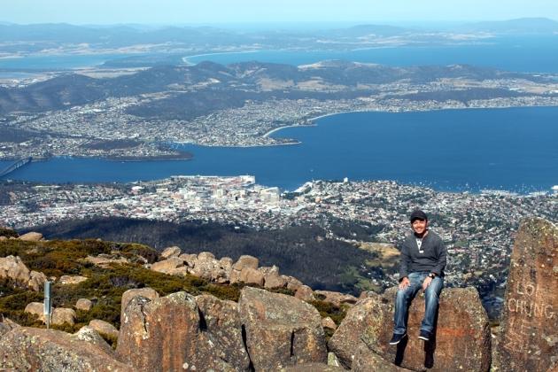 登上Mt Wellington俯瞰全Hobart的風景