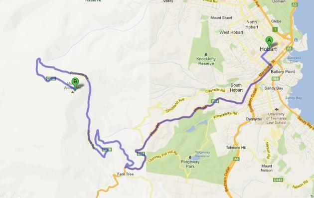 Mt Wellington很容易去。大約三十分鍾就能到山頂,選一個天朗氣情的日子去