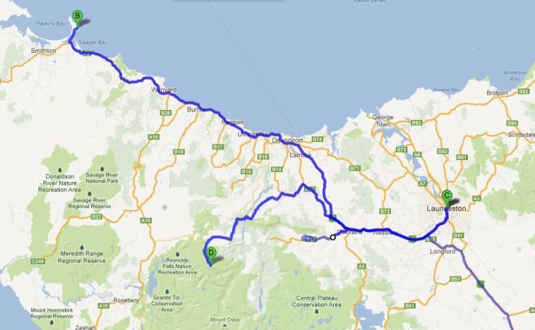 第二天從Launceston開車開到Stanley即日來回。第四天就進入Cradle Mountain,第五天就向Hobart進發