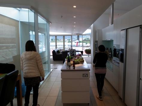 和開放式的廚房