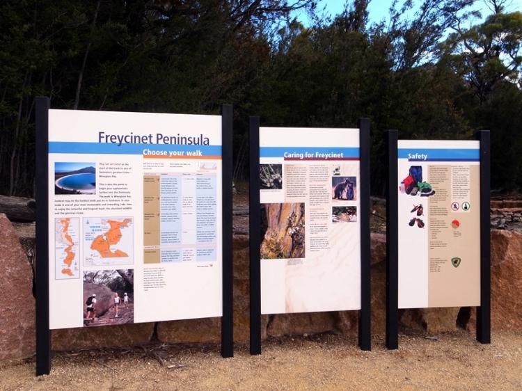 來到了Freycinet national park的Visitor Centre。這裡要買National Park的入場卷,不過我們在Cradle Mountain時買了一個月有效的就不用再買。