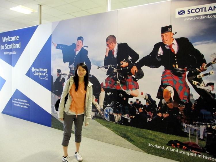 坐easyjet從倫敦過來,第一次踏足蘇格蘭