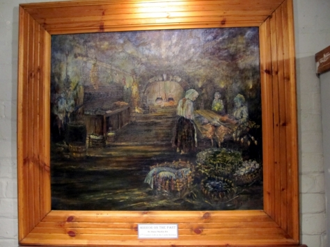 一幅描繪廚房的畫