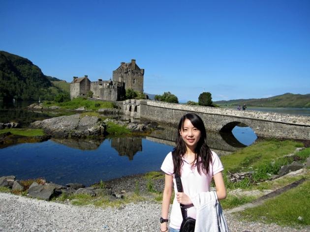 又再一次經過Eilean Donan Castle,是參觀這幽雅的城堡最好的時機