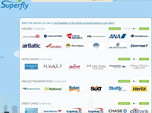 Superfly也有包括亞洲區的航空公司