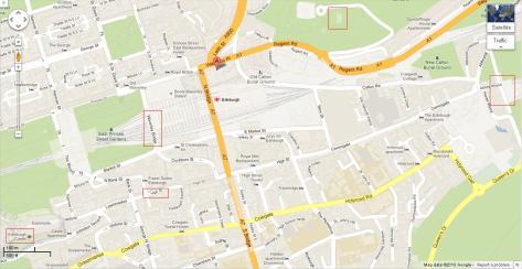今日的主要行程包括Royal Mile (High Street)兩端的Edinburgh Castle, Holyrood House,還有Calton Hill和在這個美麗的古城四處漫步