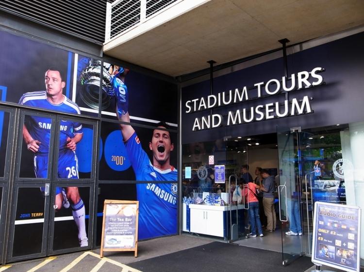 Stadium tour和Museum的入口