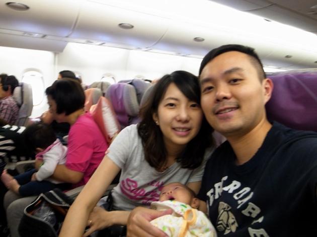 霖霖第一次搭飛機的經歷