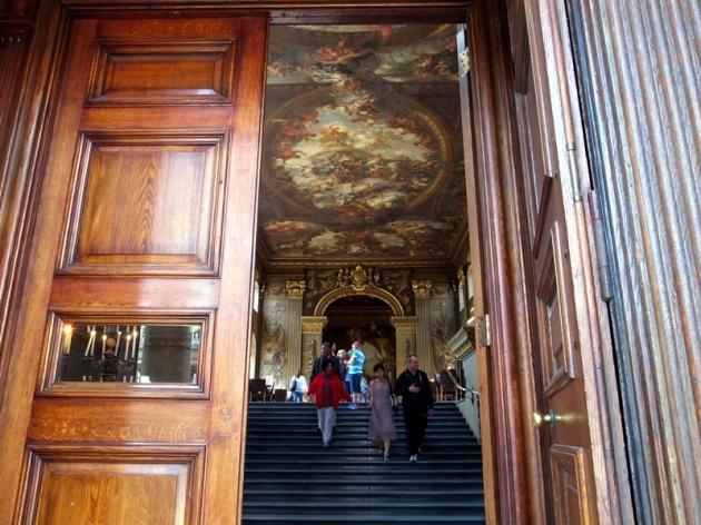 去到Painted Hall,內裡天花牆壁都是畫,應該是皇室人員宴客的地方