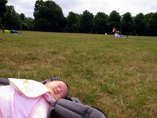 在Greenwich公園休息了一會,我們就回家去了