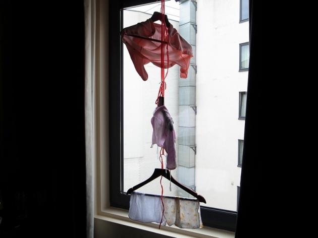 帶了一條尼龍繩用來曬乾衣服